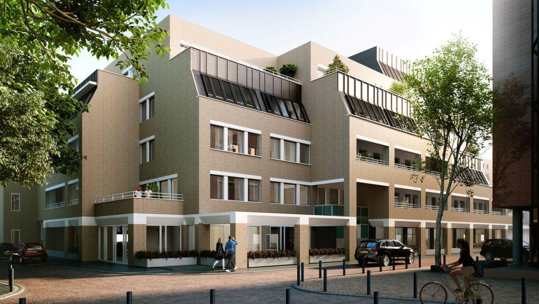 Woningen in voormalig kantoorpand Noordse bosje te Hilversum